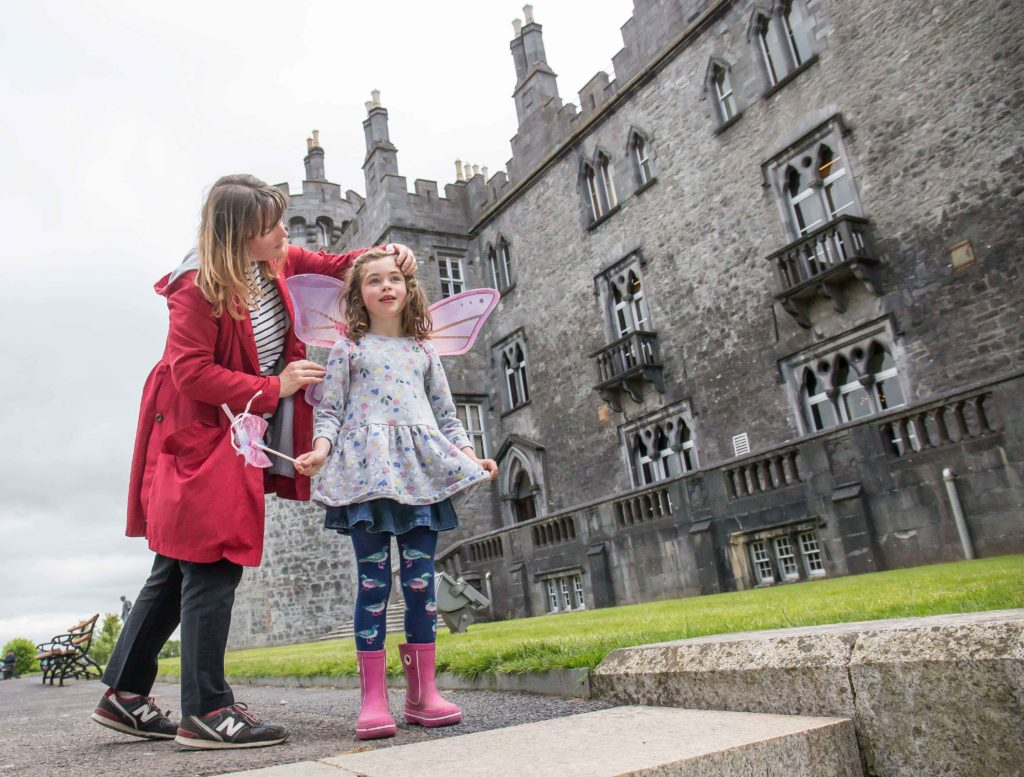 Selina O'Reilly and her daughter six-year old Nina Brancato In Kilkenny Castle