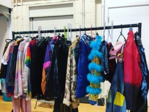 costume rail in rehearsal room